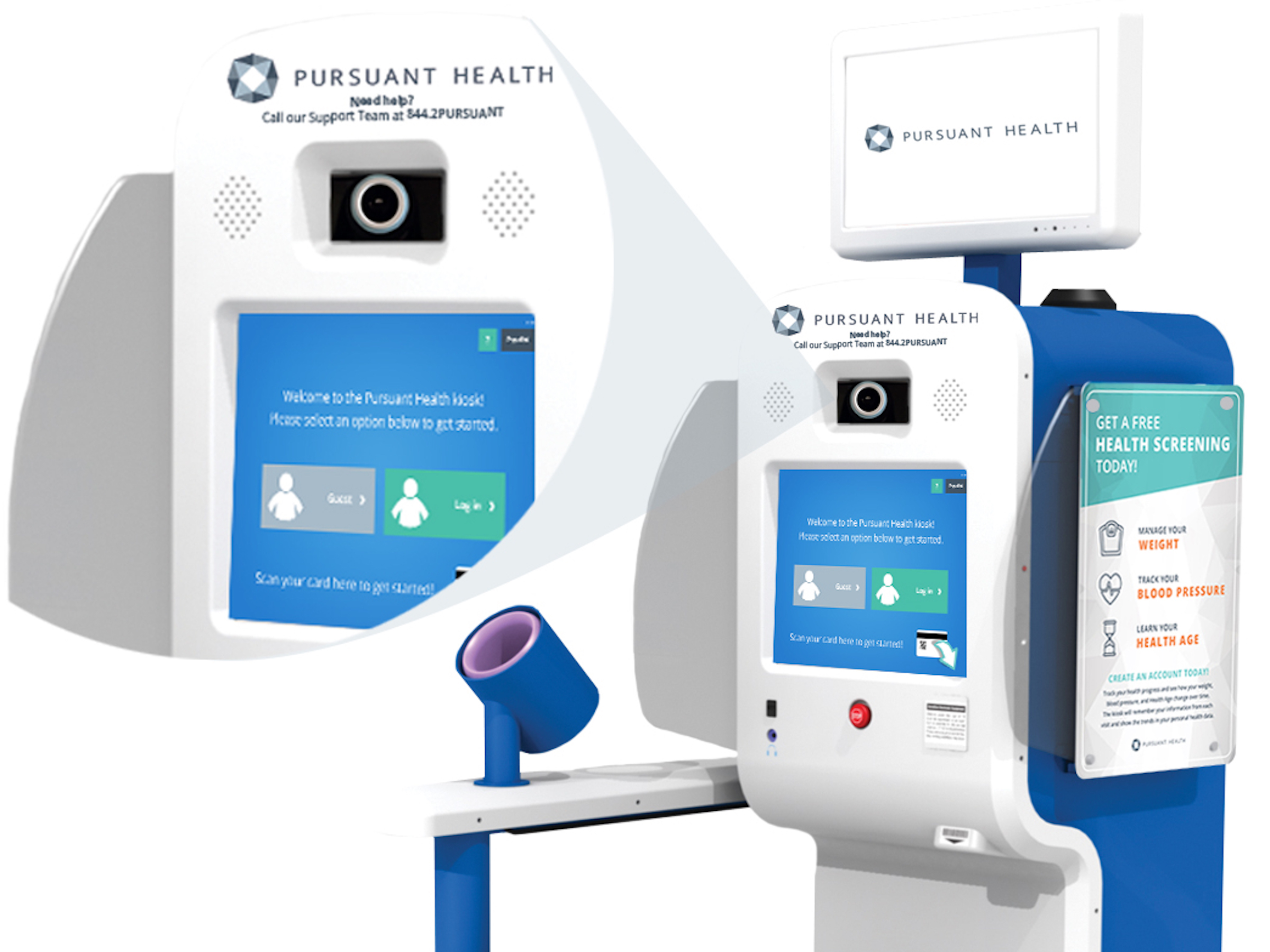 Image Depicting Diabetic Retinopathy Kiosk Prototype with Non-Mydriatic Fundus Camera Integration