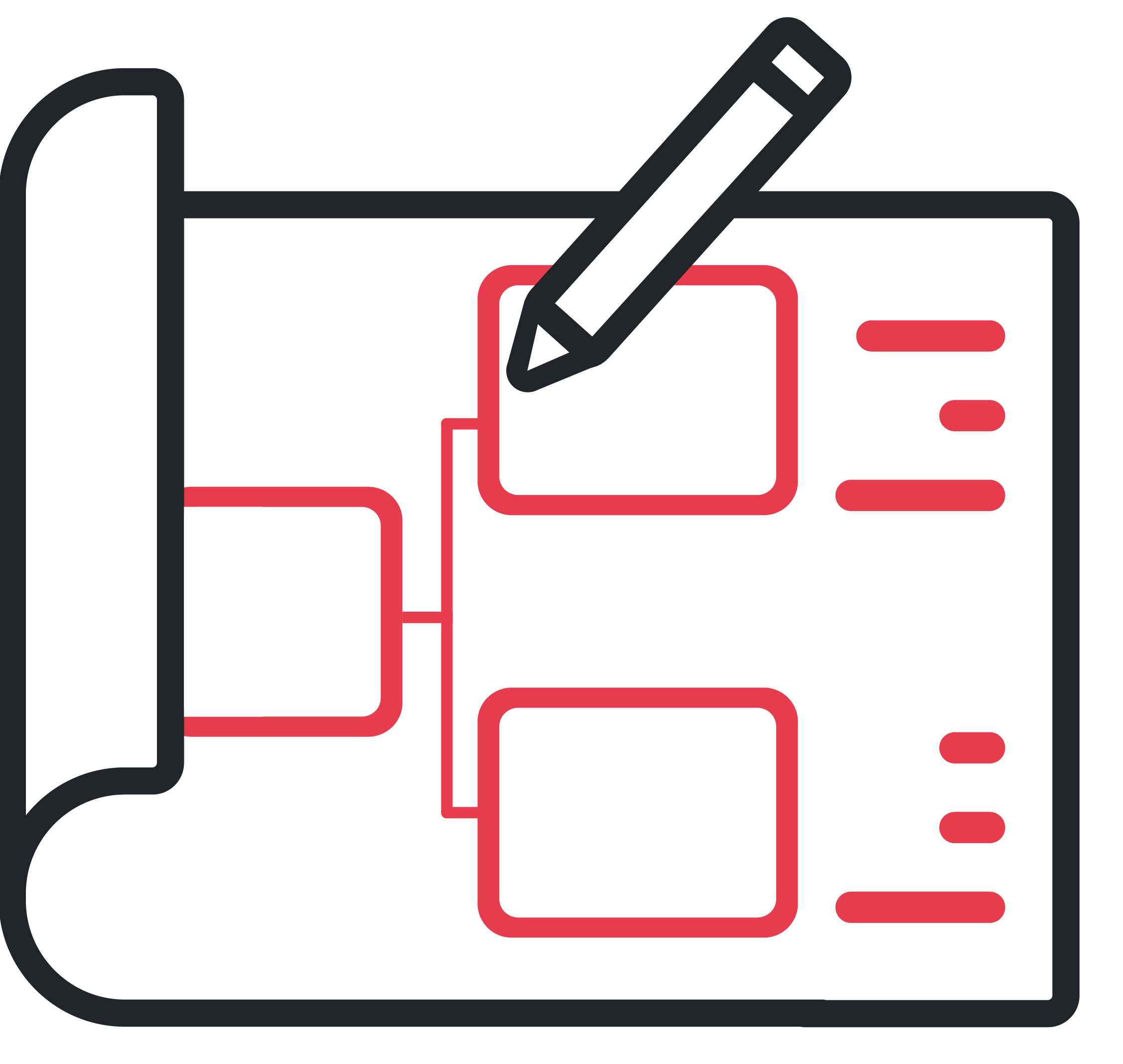 Graphic Icon Depicting Wireframing and Prototyping Activities